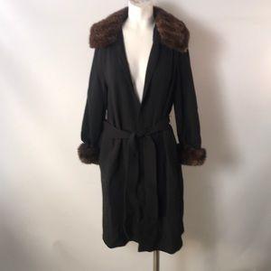 Jackets & Blazers - Woman's black trench coat
